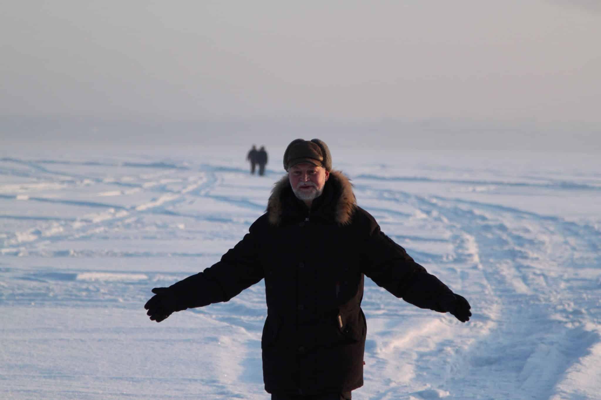 Trans-Siberian winter snow