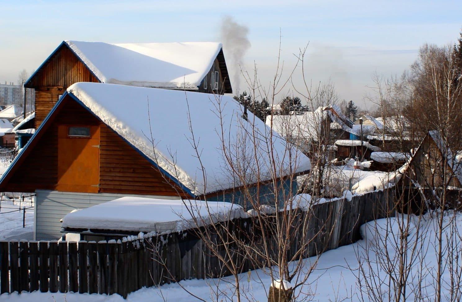 trans-siberian village in winter