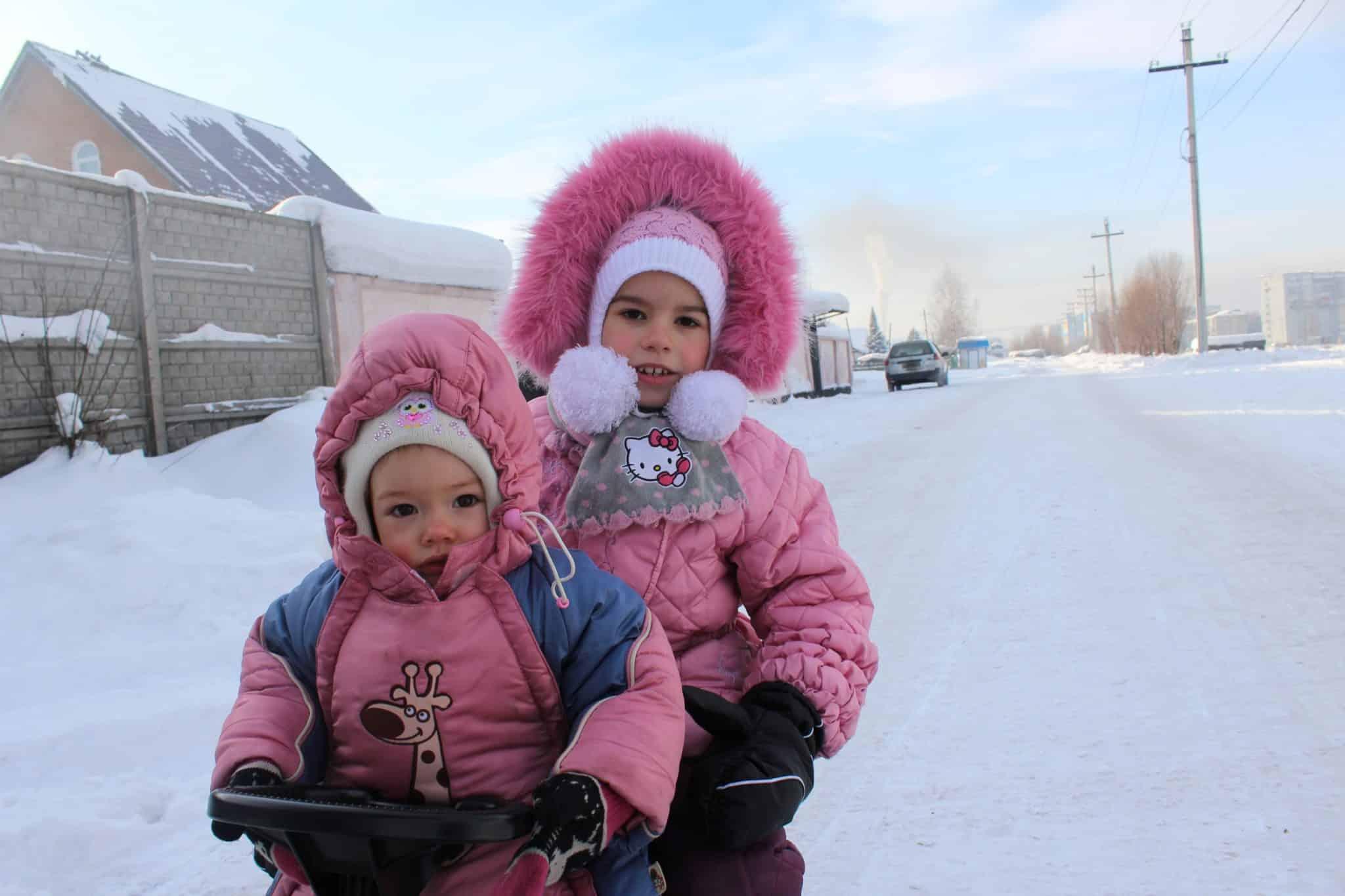 Russian girls in winter