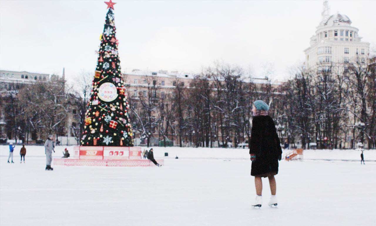 Skating rink in Moscow