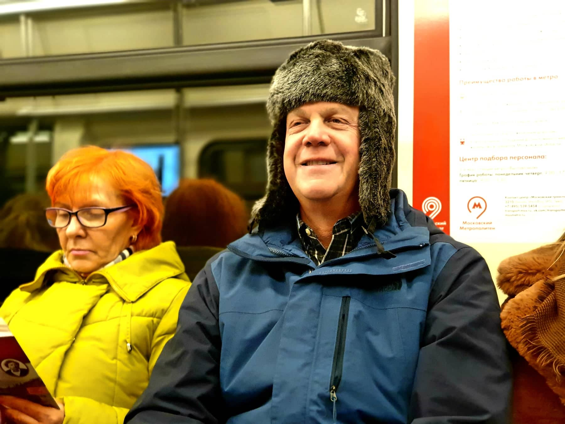 Russian ushanka fur hat