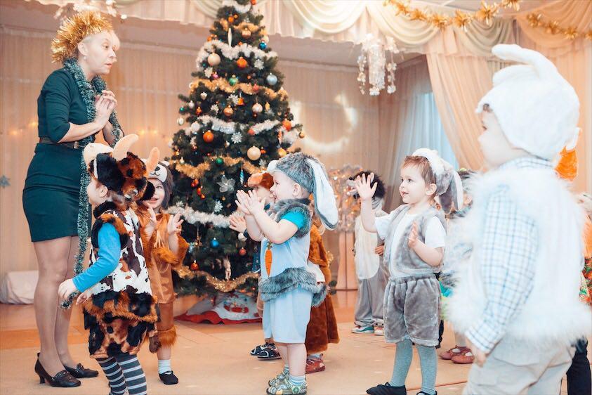 winter holidays party in kindergarten