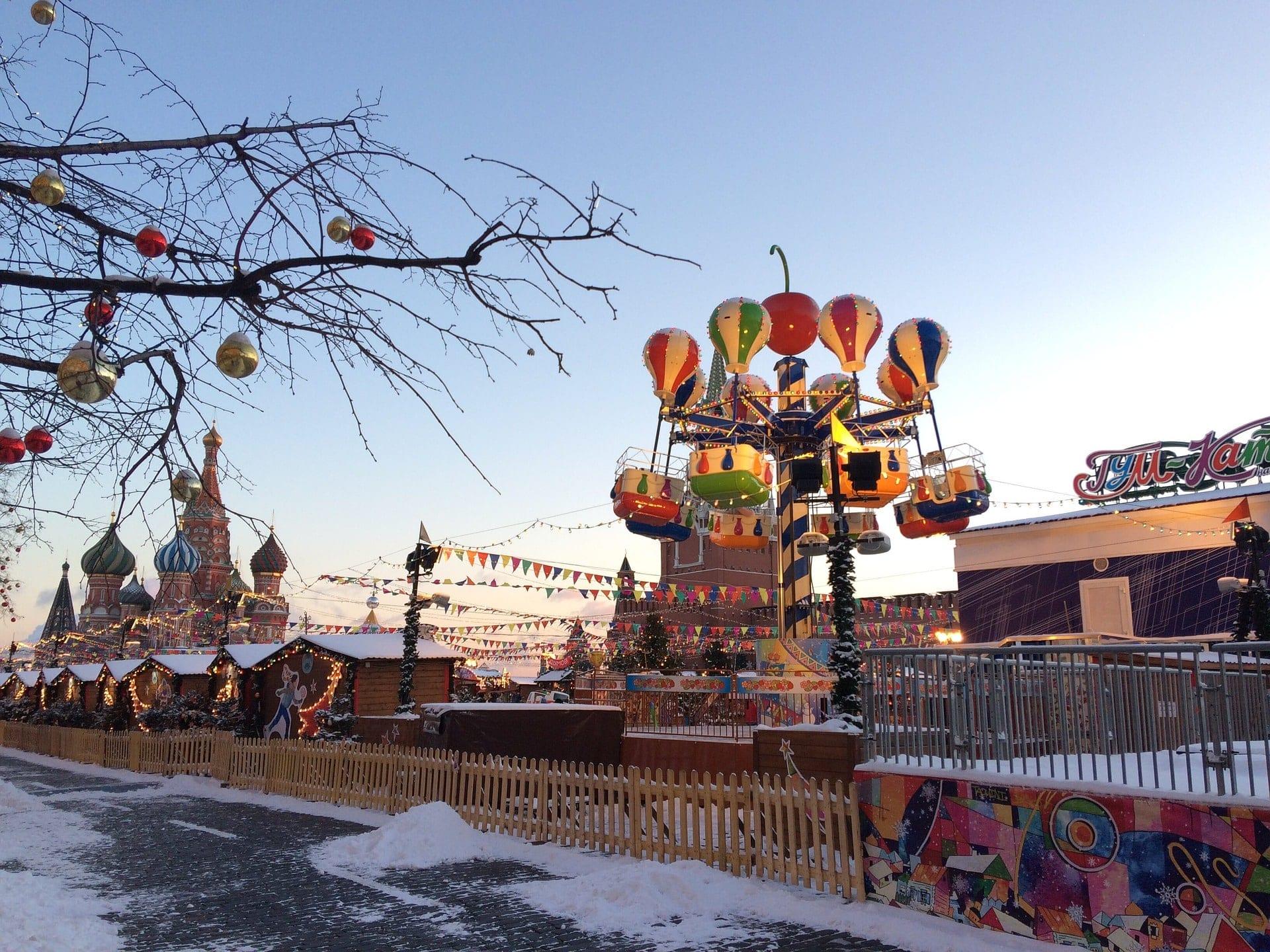 La place Rouge en hiver