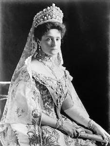 Alexandra Feodorovna wearing a hat