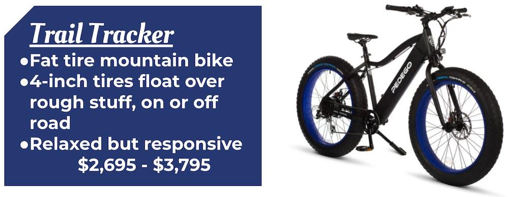 Trail Tracker Pedego Fat Tire Bike Ebike