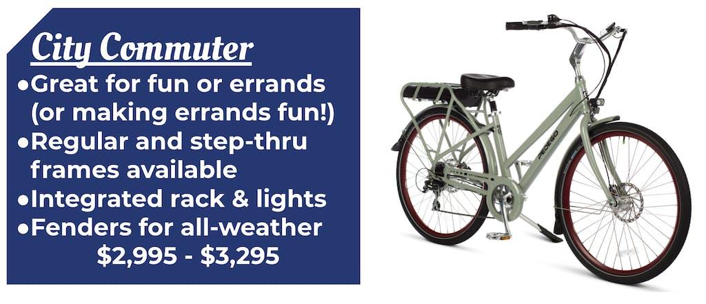 Pedego City Commuter step thru cruiser Ebike Bike