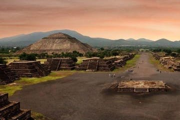 a view of Teotihuacan