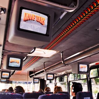 Inside of the Monterey Movie Tours bus