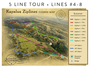 Kapalua Ziplines 5 Line Course Map