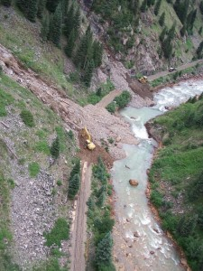 A rock slide affected the Durango Silverton Narrow Gauge Railroad.