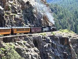 a train on a rocky hill