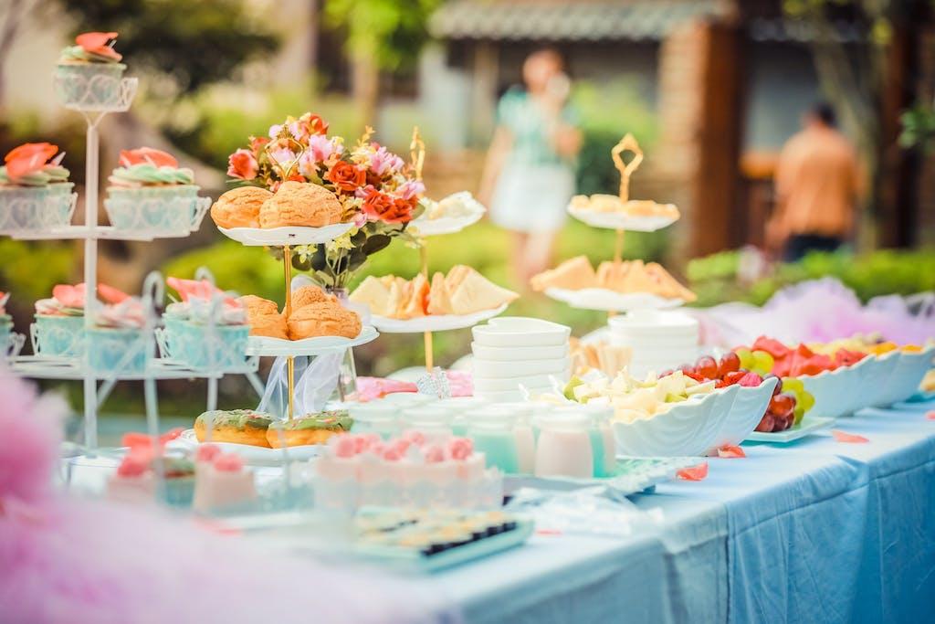 cupcakes and canapes at a smorgasbord