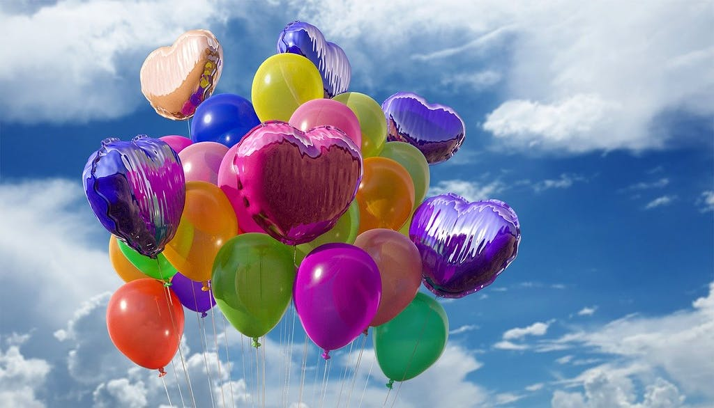 a group of colorful balloons