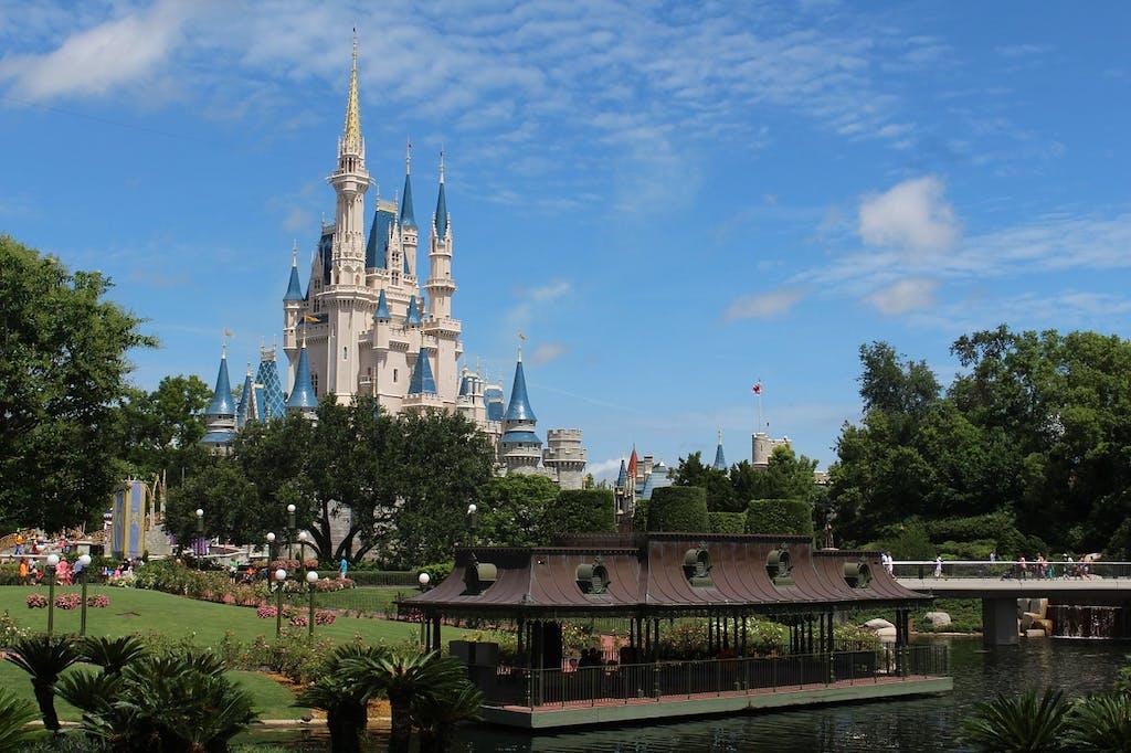 A view of the castle at Magic Kingdom, Orlando, FL.