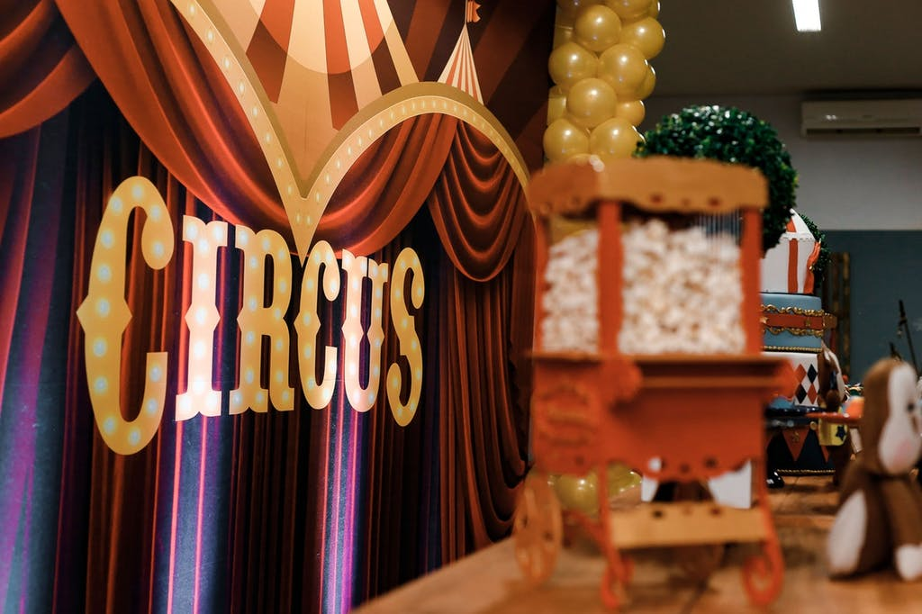 A circus-themed party is one of the funniest surprise party ideas.