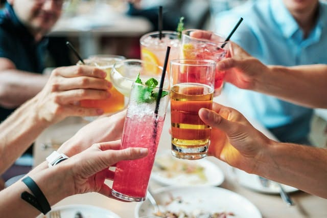People drinking cocktails