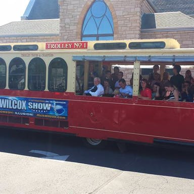 Tour Group on the Dells Trolley