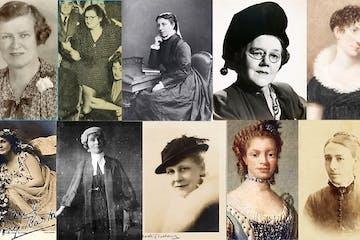 Louisa Lawson, Jessie Street, Nellie Stewart posing for a photo