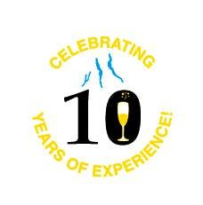 10 year anniversary grapic
