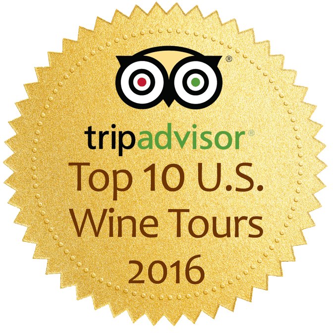 TripAdvisor Top 10 US wine tours badge