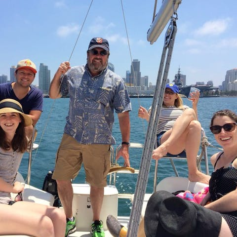 Group enjoys a Seaforth boat rental