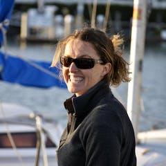 Woman smiling at Seaforth Boat Rental marina