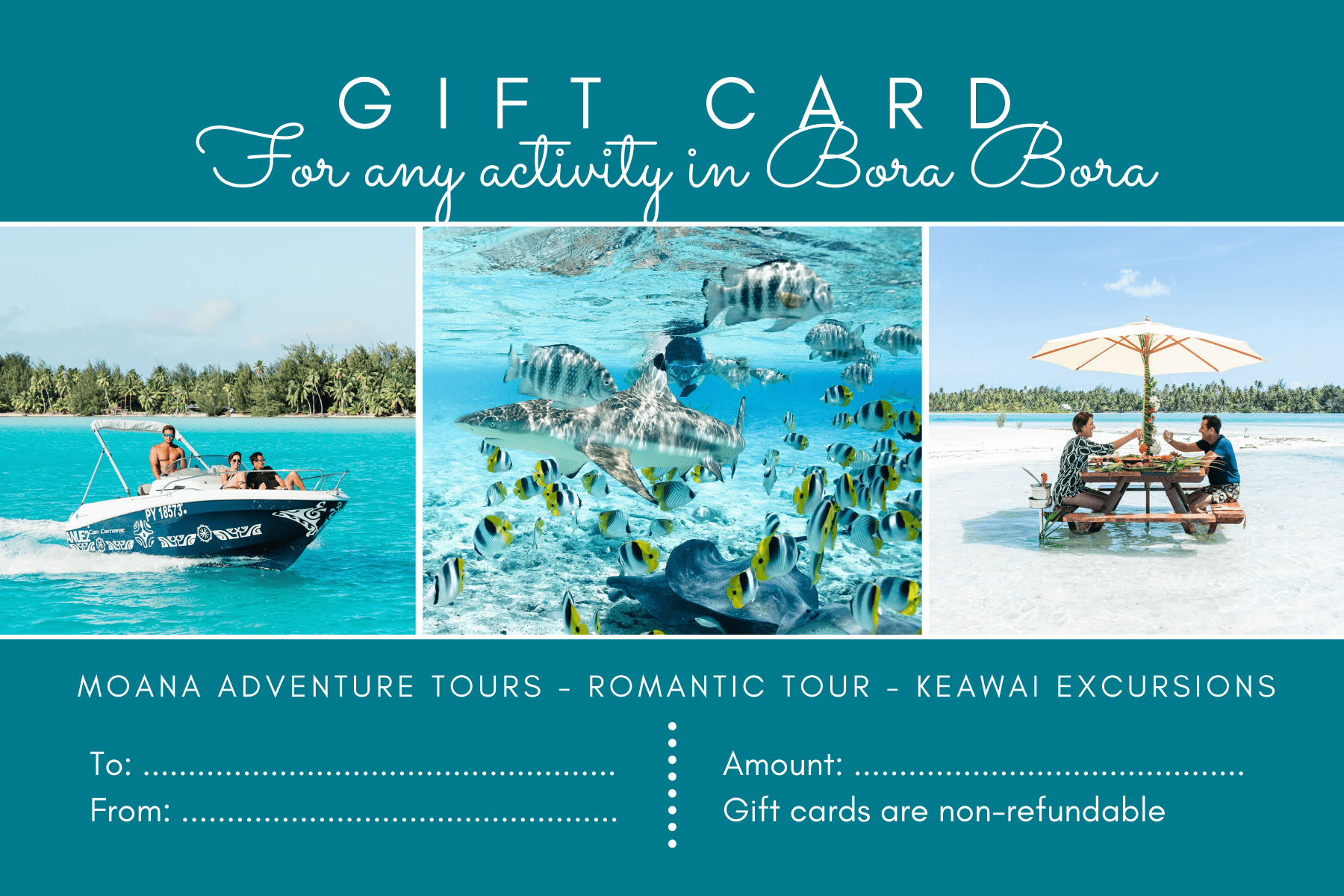 Keawai Excursions nominative gift card