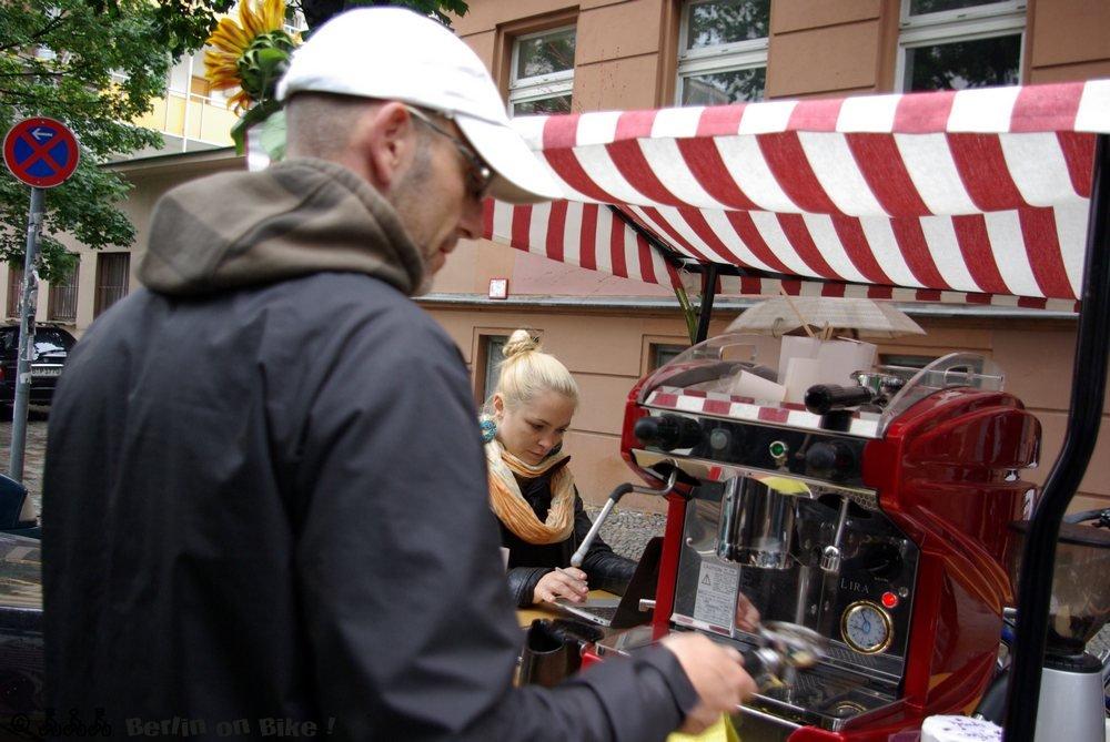 Mann Hut Kaffeemaschine
