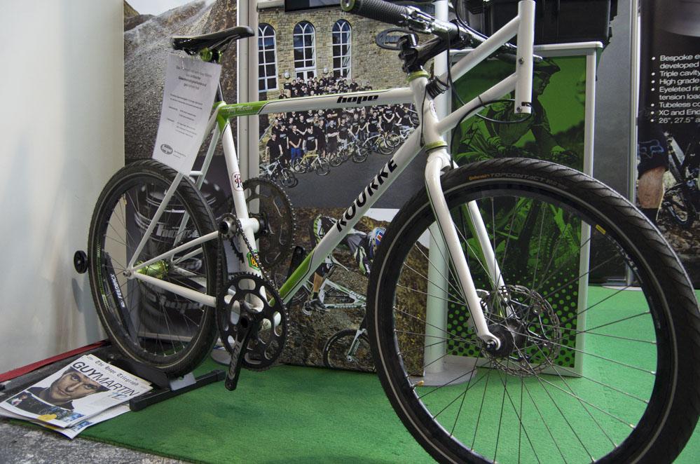 Rennrad stehend