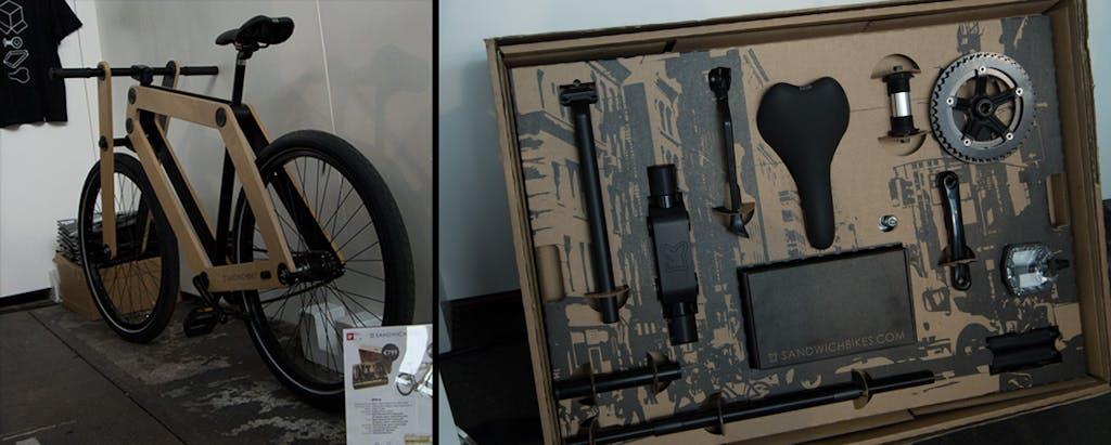 Holz-Fahrrad zum Selbst-Zusammenbauen