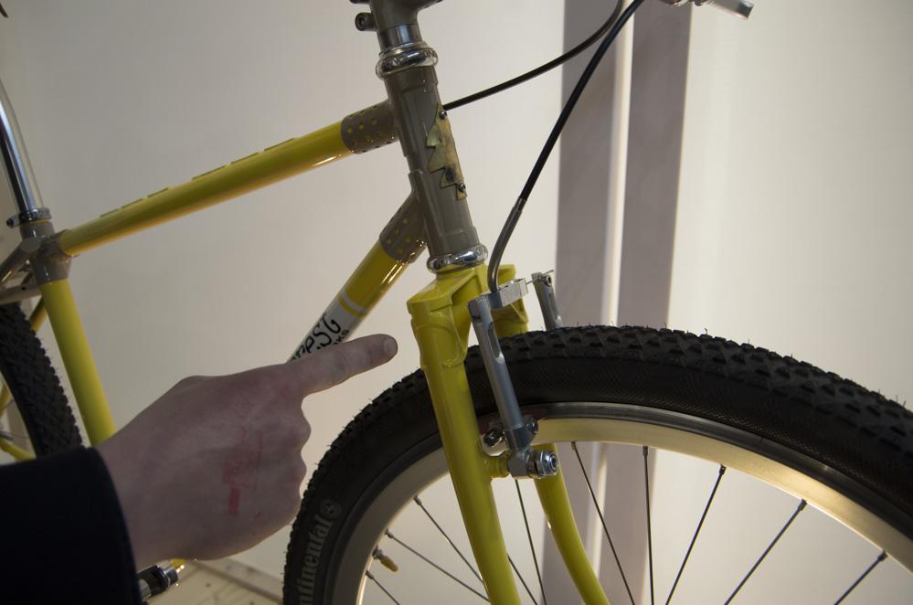Nahaufnahme von Fahrrad