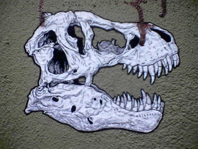 Grafitti, Dinosaurier-Schäder