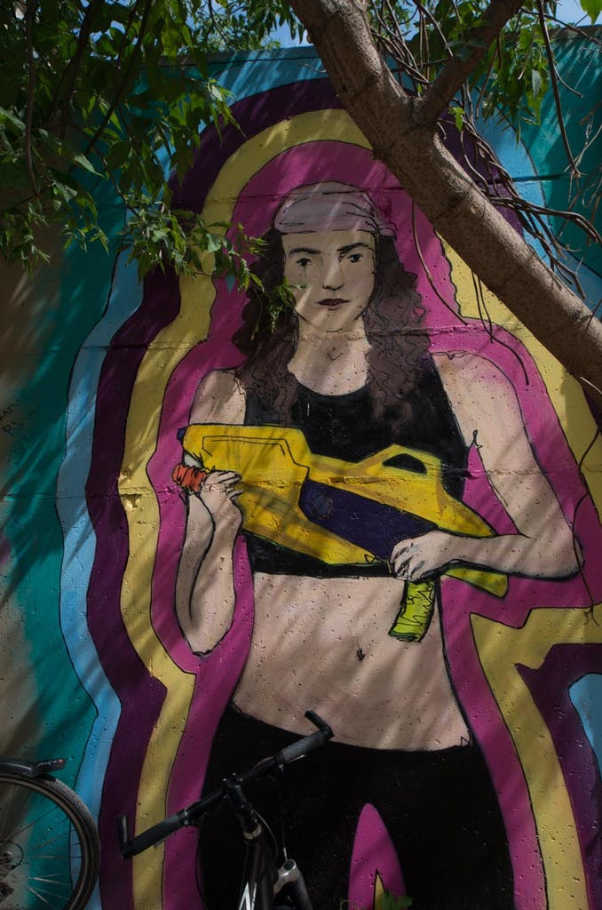 Graffiti im Yaam