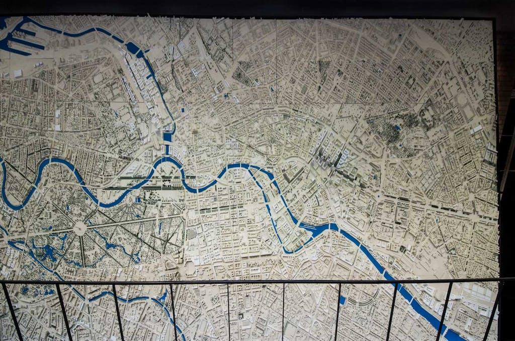 Stadtmodell der Berliner Innenstadt im Maßstab 1:1000