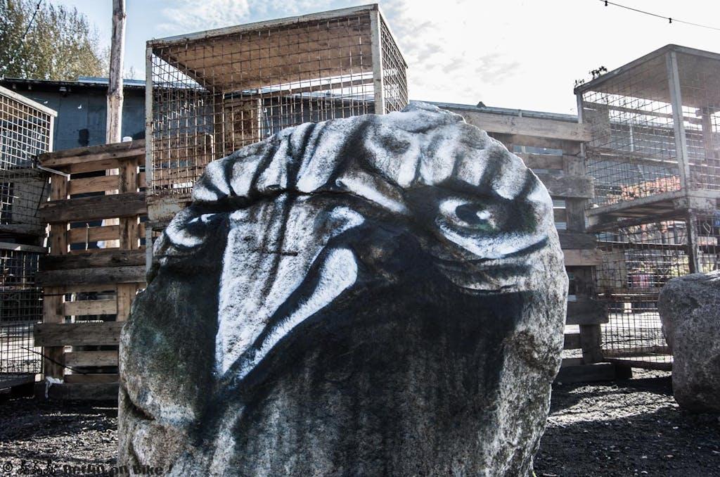 Angry Bird at RAW in Berlin-Friedrichshain.