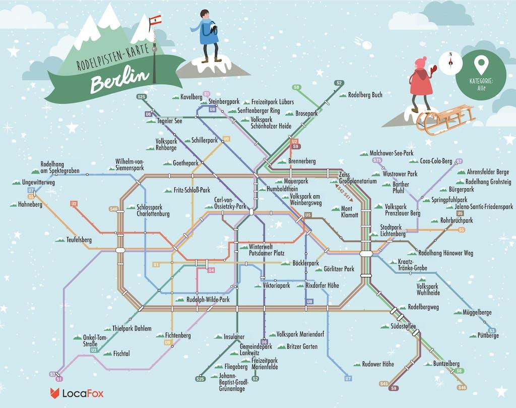 U-Bahn-Plan Rodeln in Berlin