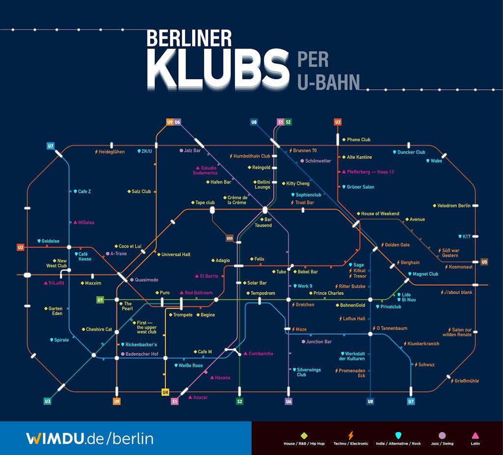 Berlin Clubs per U-Bahn
