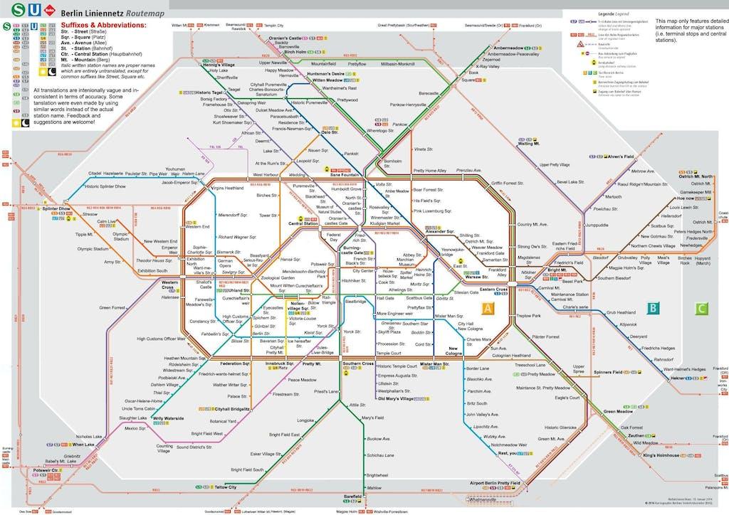 Berliner U-Bahn wörtlich ins Englische übersetzt