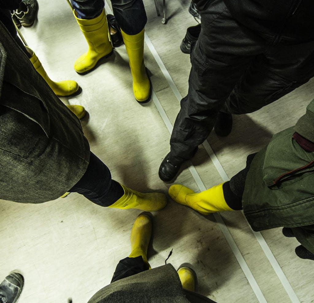 Für kleidsames, wasserfestes und sicheres Schuhwerk sorgt der Veranstalter.