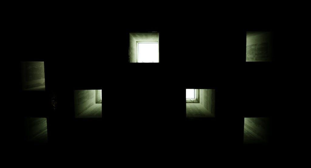 Tageslicht-Schächte im Probenzentrum der Staatsoper unter den Linden