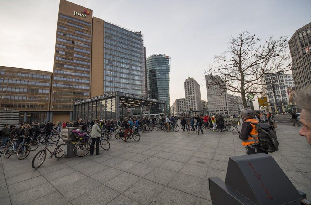 Kurzer Stopp am Potsdamer Platz