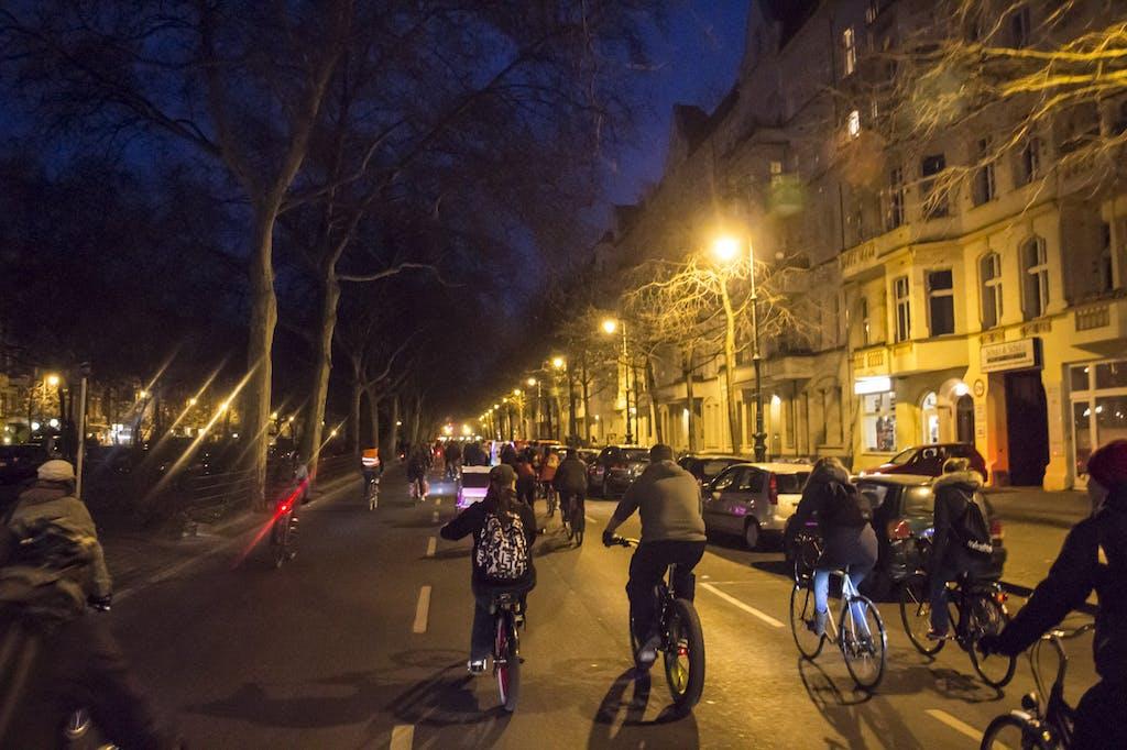 Music Ride auf der Gneisenaustraße