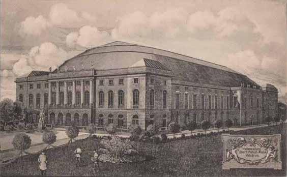 Der Berliner Sportpalast auf einer Postkarte von 1910