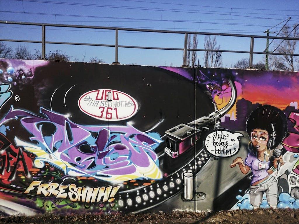 Klassisches Grafitto am Park im Gleisdreieck