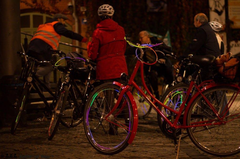 Fahrradtour zum Festival of Lights in Berlin 2014, Kulturbrauerei