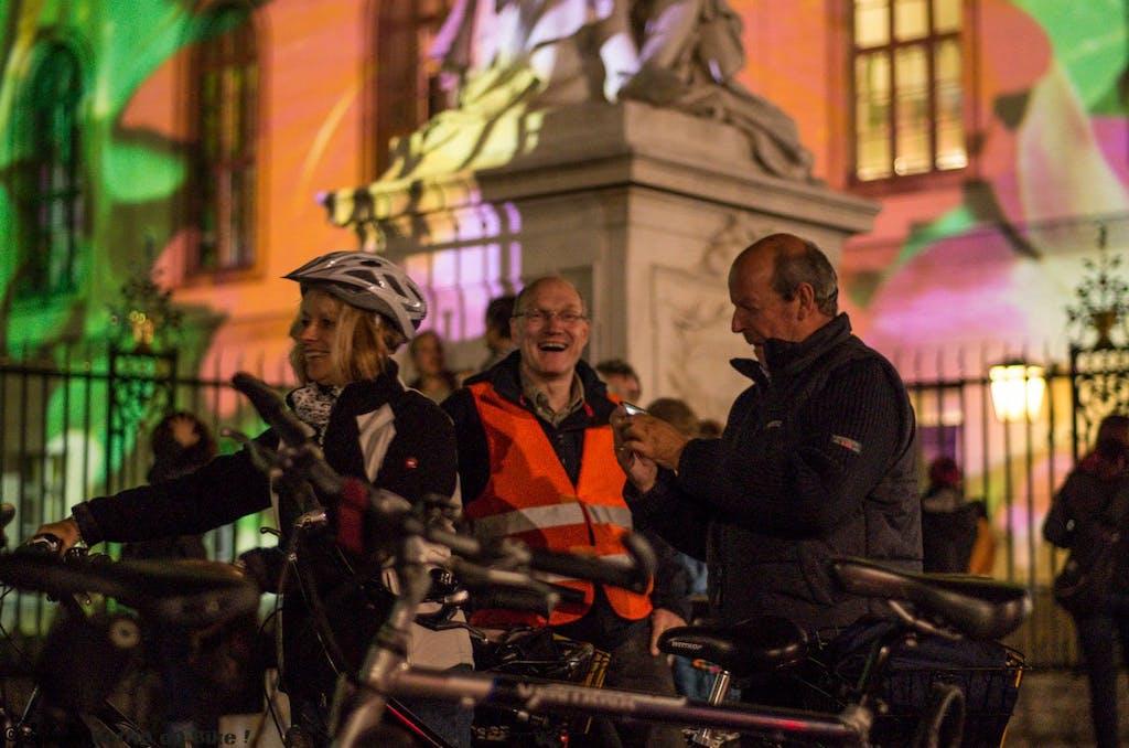 Fahrradtour zum Festival of Lights in Berlin 2014
