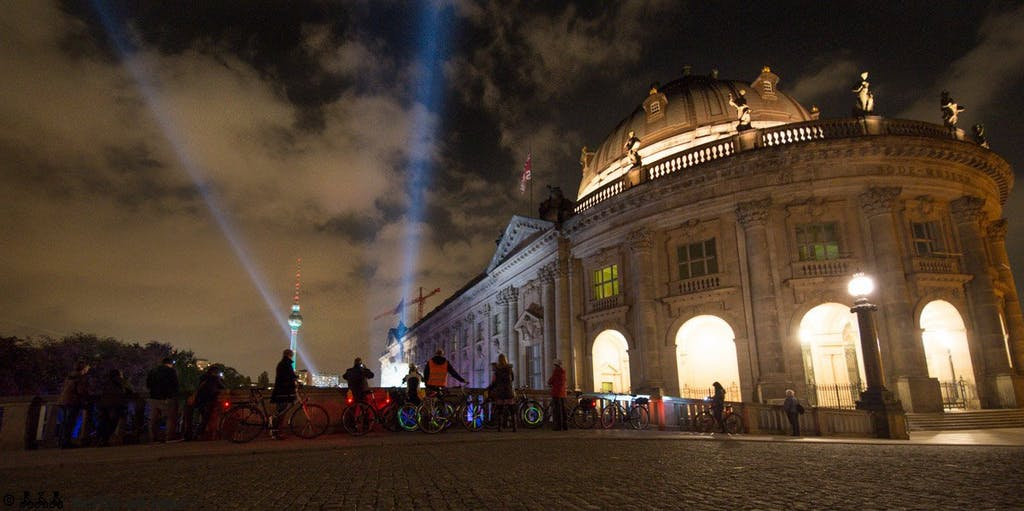 Biketour zum Festival of Lights 2014, Bodemuseum, Fernsehturm