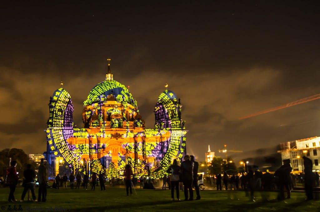 Biketour zum Festival of Lights 2014, Berliner Dom