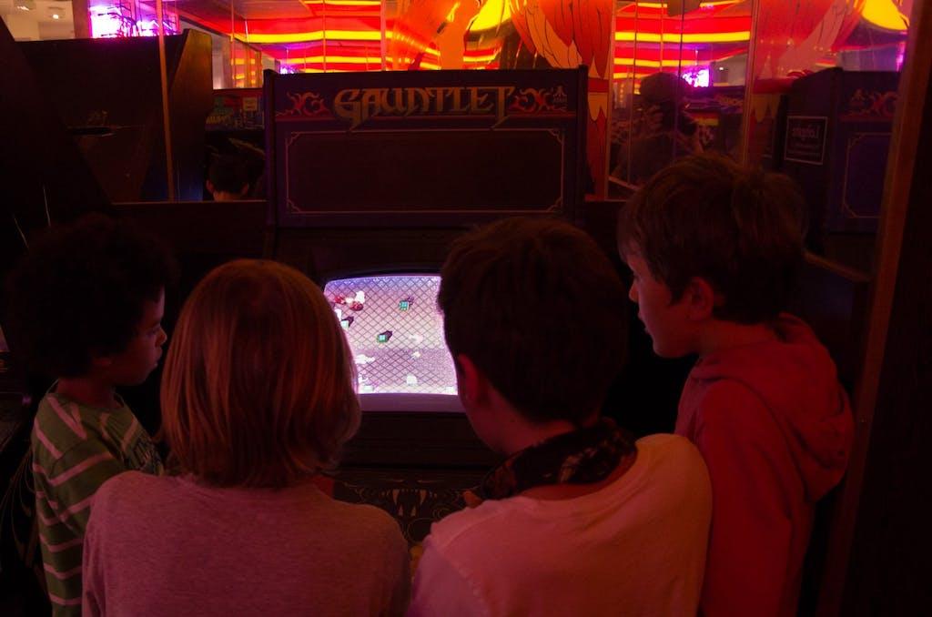 Kindergeburtstag in der Arcade; Computerspielemuseum Berlin