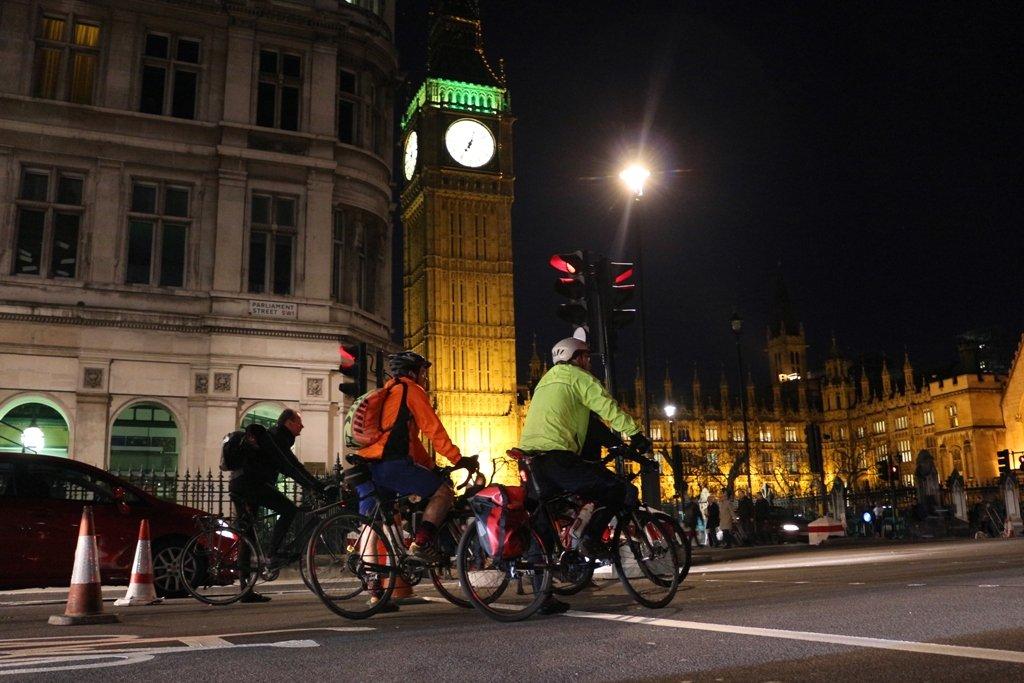 LDN Ride 10 Cyclist at night